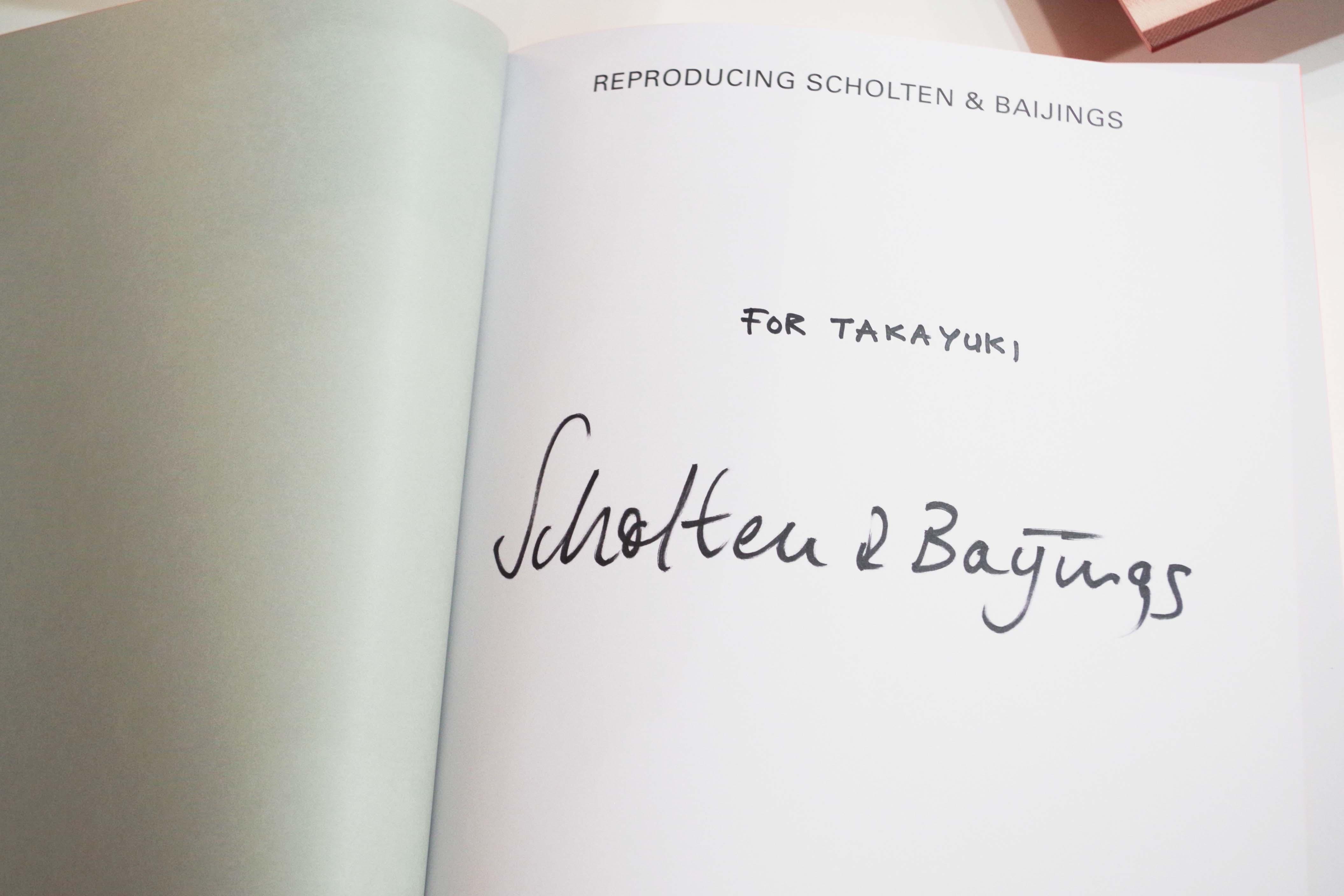 ショルテンとバーイングスのサイン