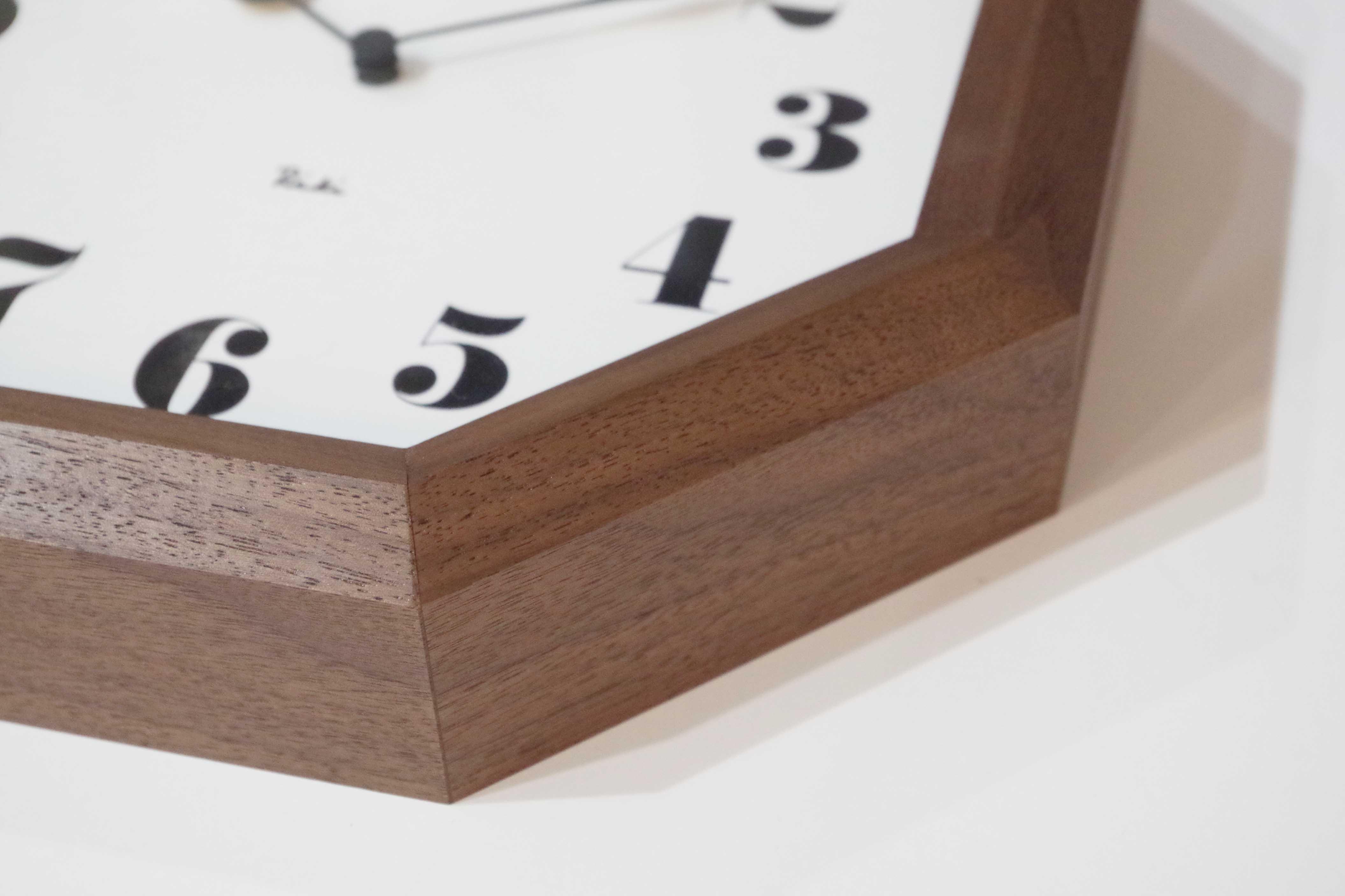 八角の時計 サイド