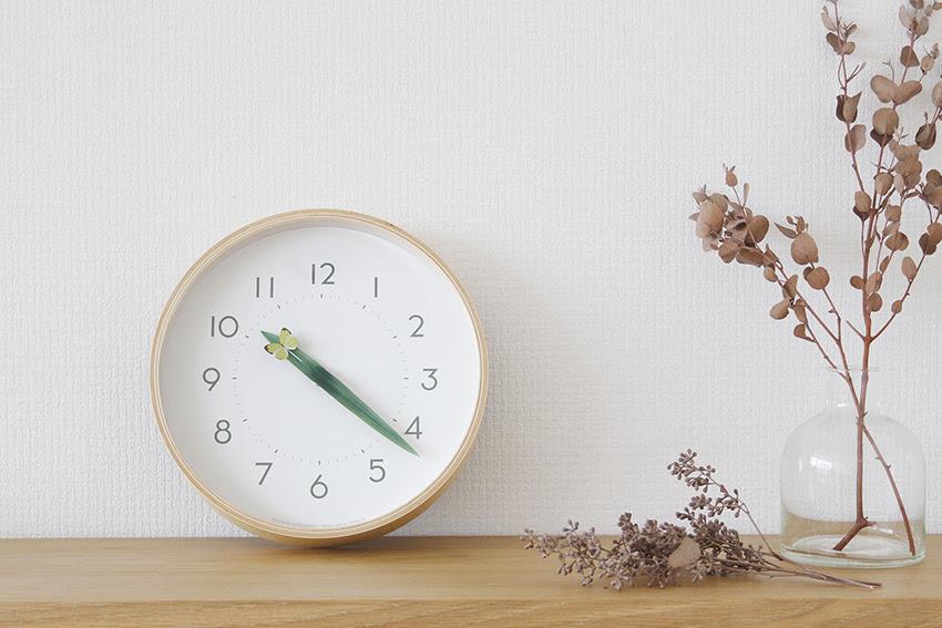 とまり木の時計