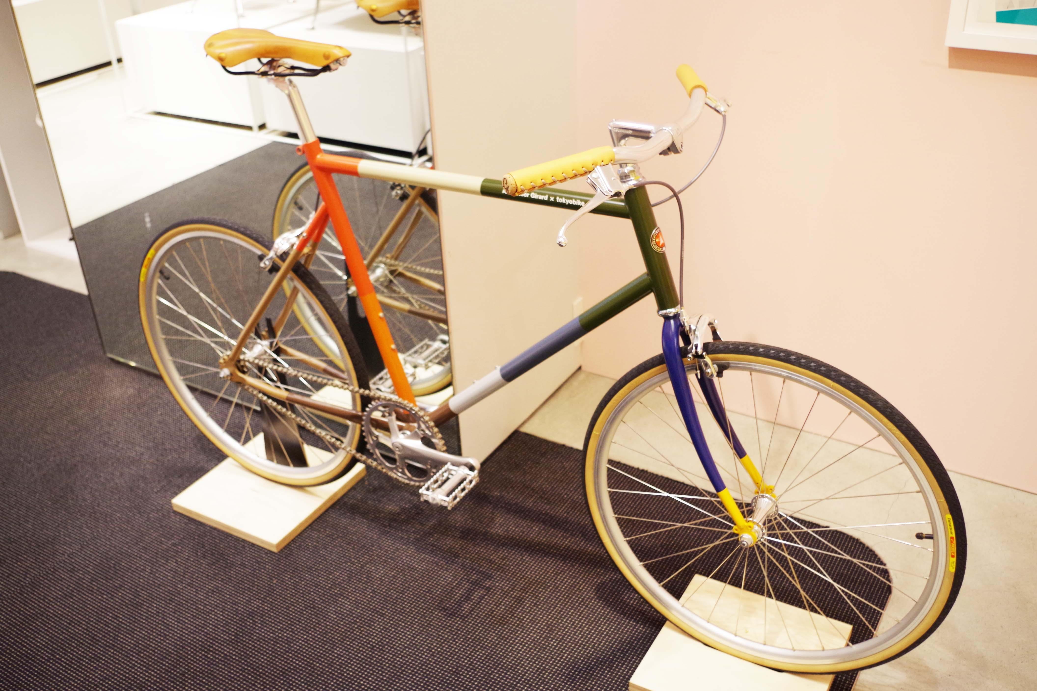実物の自転車