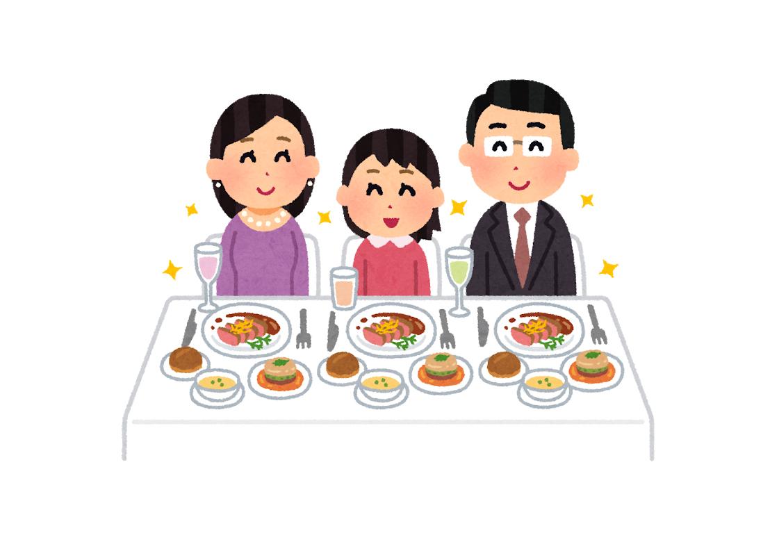 レストランの食事風景